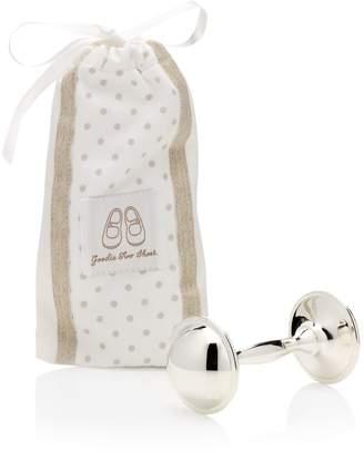 English Trousseau Rattle in Cotton Bag (Beige)
