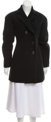 Versace Notch-Lapel Wool-Blend Coat