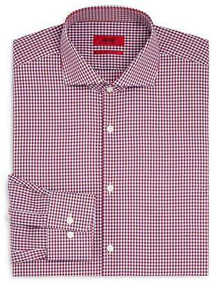 HUGO Plaid Regular Fit Dress Shirt