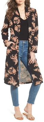 Scotch & Soda Floral Print Drape Duster Jacket
