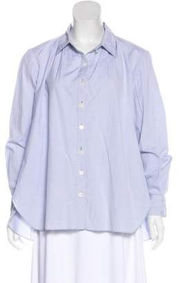 Thakoon Long Sleeve Button-Up Top