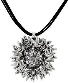 Or Paz Sterling Silver Sunflower Multi-CordNecklace
