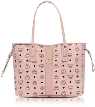 MCM Shopper Project Visetos Soft Pink Medium Reversible Tote Bag