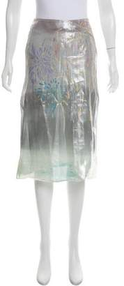 Tsumori Chisato Metallic Knee-Length Skirt