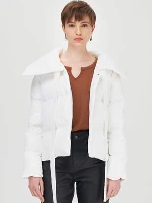Shein Zipper Pocket Side Padded Jacket