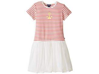 Toobydoo Short Sleeve Tulle Dress (Toddler/Little Kids/Big Kids)