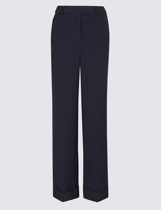Marks and Spencer Turn-up Wide Leg Trousers
