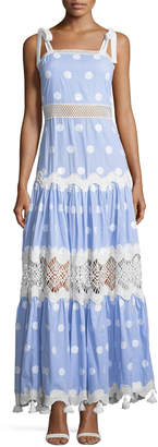 Alexis Ada Striped Embroidered Maxi Dress