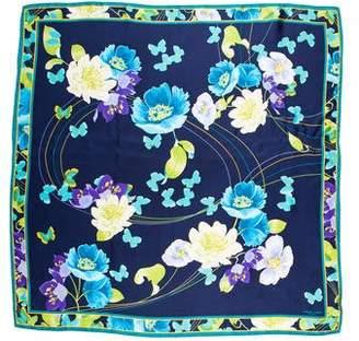 Adrienne Landau Silk Floral Print Scarf