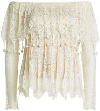 Alexander McQueen Lace Off-Shoulder Top