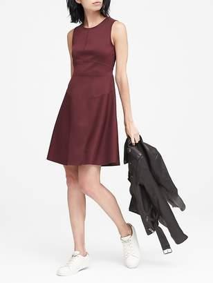 Banana Republic Wrinkle-Resistant Neoprene Fit-and-Flare Dress