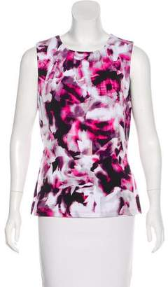 Andrew Marc Floral Print Sleeveless Top
