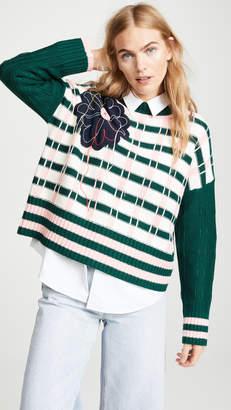 Mira Mikati Grid Plaid Combo Sweater