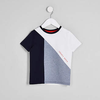 River Island Mini boys blue 'trouble maker' T-shirt