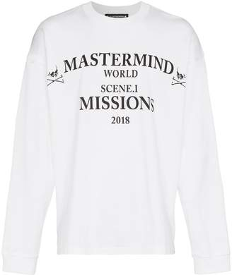 Mastermind Japan missions long sleeve cotton t-shirt