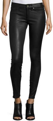 Rag & Bone Skinny Leather Ankle Pants, Black