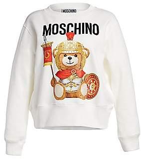 Moschino Women's Gladiator Bear Graphic Sweatshirt