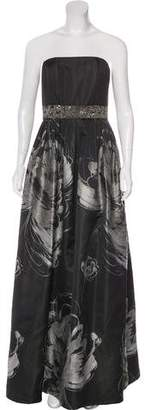 Carmen Marc Valvo Strapless Evening Dress