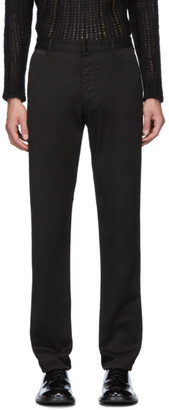 Prada Black Stretch Cotton Drill Trousers
