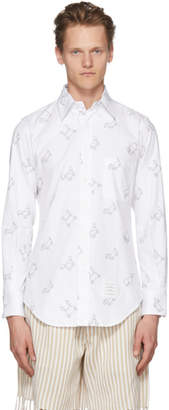 Thom Browne White Toy Icon Oxford Shirt