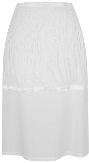 J.W.Anderson White Lightweight Silk Fringe Skirt