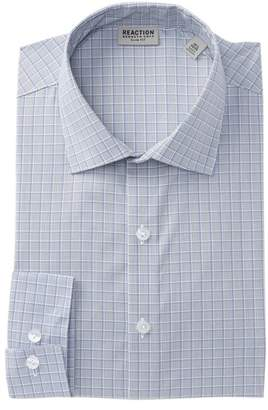 Kenneth Cole Reaction Grid Stretch Slim Fit Dress Shirt