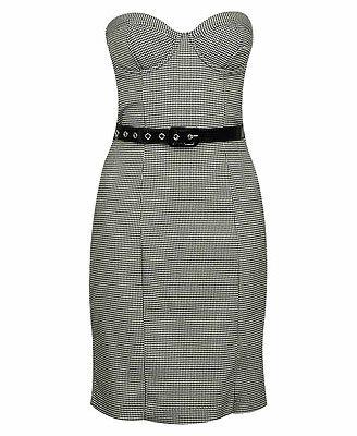 Herringbone Tube Dress W/ Belt