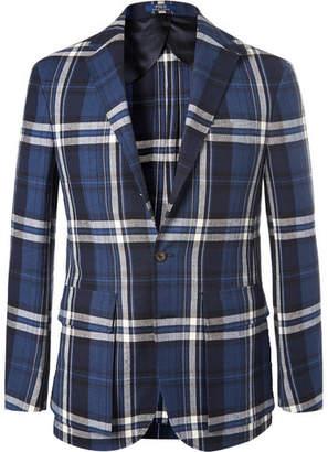 Polo Ralph Lauren Morgan Slim-Fit Unstructured Checked Linen and Cotton-Blend Blazer