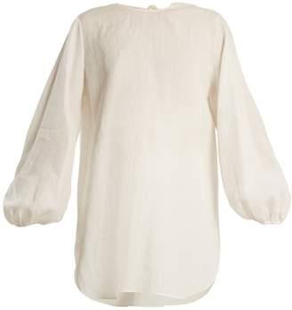 The Row Latou open-back linen top