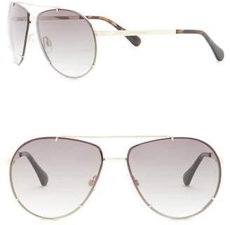 Diane von Furstenberg 60mm Aviator Sunglasses