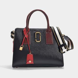 Marc Jacobs Big Shot Bag In Black And Red Leather With Polyurethane Coating