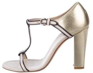 Dolce & Gabbana Leather T-Strap Sandals