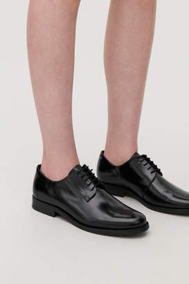 Cos ROUND-TOE LEATHER OXFORD SHOES