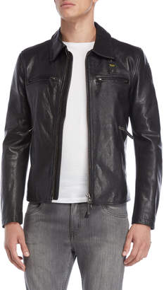 Blauer Black Leather Jacket