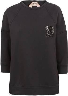 N°21 N.21 Sequined Chest Pocket Sweatshirt