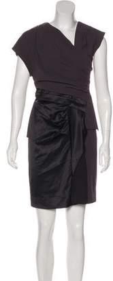Helmut Lang Silk-Trimmed Mini Dress