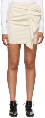 Isabel Marant Ecru Canvas Nefly Miniskirt