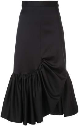 Rosetta Getty asymmetric ruffle skirt