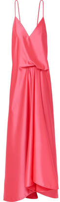 Cédric Charlier Draped Satin Dress - Pink