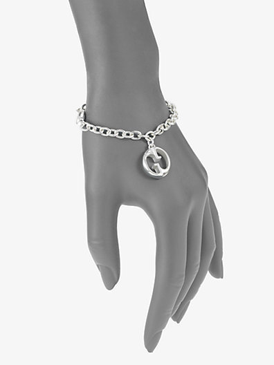 Gucci Sterling Silver 1973 GG Charm Bracelet