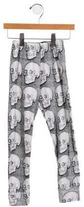 Nununu Girls' Skull Printed Leggings