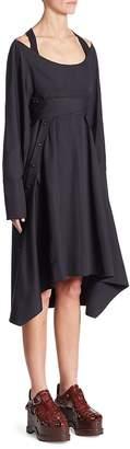 Proenza Schouler Women's Poplin Front Button Dress
