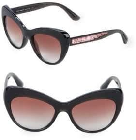 176634836179 Dolce & Gabbana 52MM Sequin Arm Cateye Sunglasses