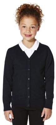 F&F School School Girls Ribbed Cardigan With As New Technology 5-6 years