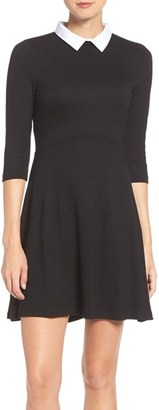 French Connection 'Fast Fresh' Collared Jersey Fit & Flare Dress $128 thestylecure.com
