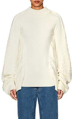 Y/Project Women's Oversized Mixed-Stitch Fisherman Sweater