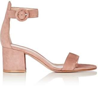 Gianvito Rossi Women's Versilia Suede Ankle-Strap Sandals