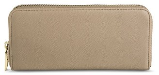 Merona Women's Solid Zip Around Faux Leather Wallet - Merona $14.99 thestylecure.com