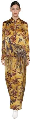 F.R.S For Restless Sleepers CLOQUE LONG PRINTED VISCOSE SHIRT DRESS
