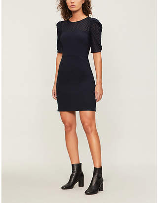 Claudie Pierlot Embroidered-lace woven dress